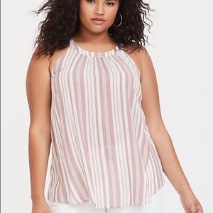 Torrid Striped Goddess Tank Top Size 6X